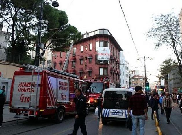 Gülhane'de otel yangını