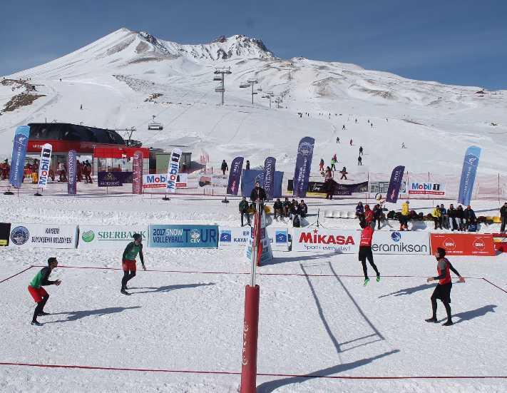 Erciyes Avrupa Kar Voleybolu Kupası başlıyor