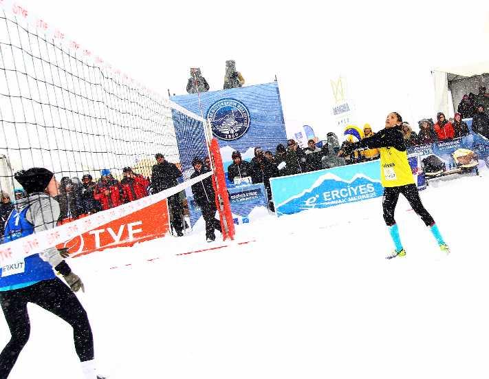 Sporun kalbi Erciyes'te attı