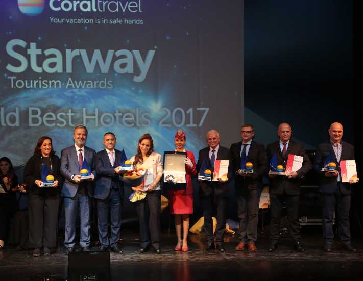 Coral Travel 'Starway World Best Hotels 2017' ödülleri sahiplerini buldu