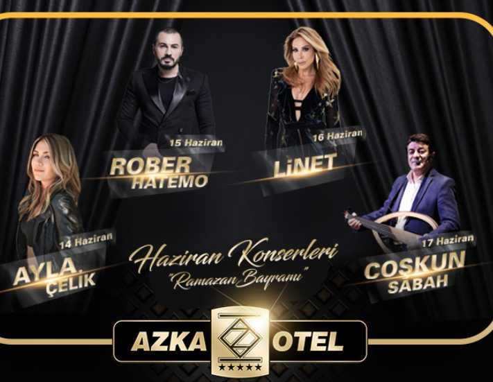 Azka Hotel'de yaz konserleri