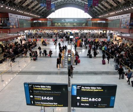 İSG'de yolcu sayısı nisanda % 8 arttı