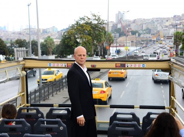 Ünlü aktör Bruce Willis İstanbul'u gezdi