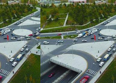 Atatürk Havalimanı'na modern kavşak