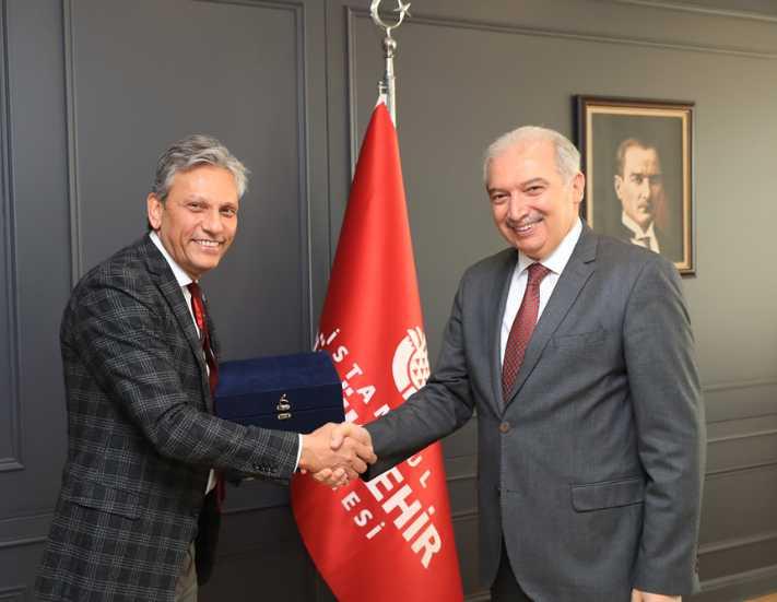 Firuz Bağlıkaya'dan İBB Başkanı Mevlüt Uysal'a ziyaret