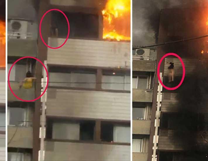 İzmir'de 6 katlı otelde yangın