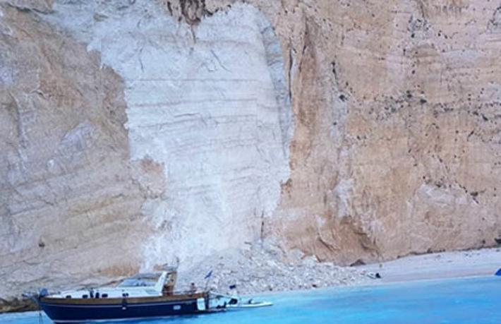 Dünyaca ünlü Navagio Plajı çöktü: 7 yaralı