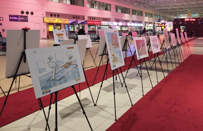 Uluslararası Turizm Karikatürleri Yarışması'nın yeni sergisi açıldı