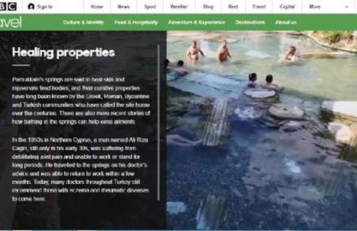 Beyaz cennet Pamukkale BBC'de tanıtıldı