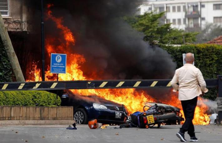 Kenya'da lüks otele bombalı saldırı