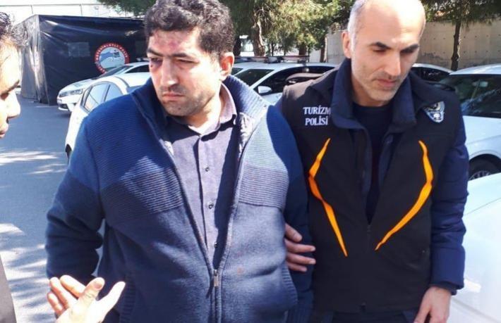 O taksici gözaltına alındı
