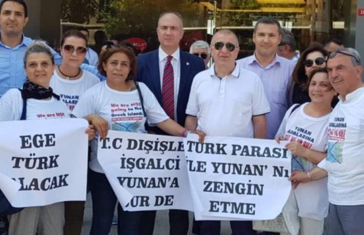 ETS'ye Yunan adaları protestosu