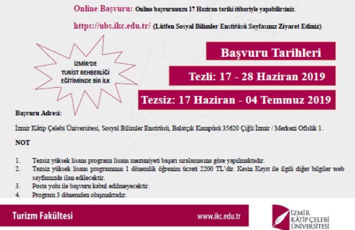 İzmir Kâtip Çelebi Üniversitesi'nden turist rehberliği eğitiminde bir ilk