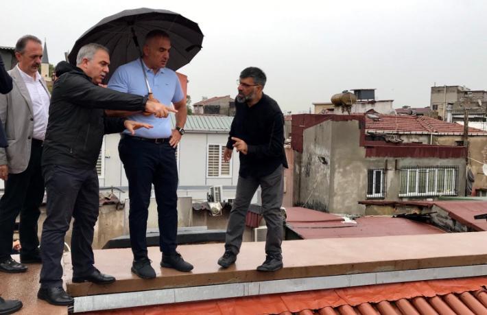 Bakan Ersoy: Kapalıçarşı çatı testini geçti