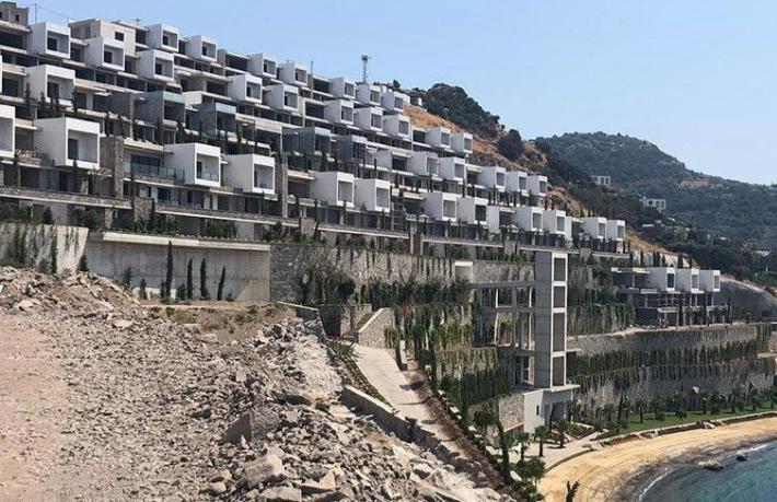 Bakanlık o otelin inşaatını durdurdu