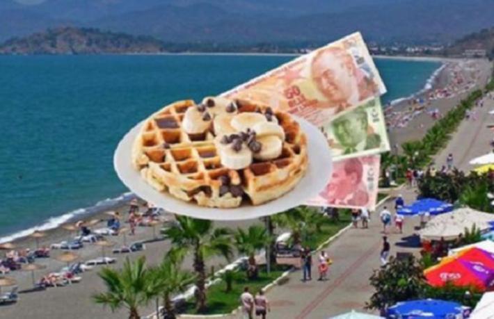 Turistik soygun: Waffle 80, Lahmacun 50, Su 15 Lira