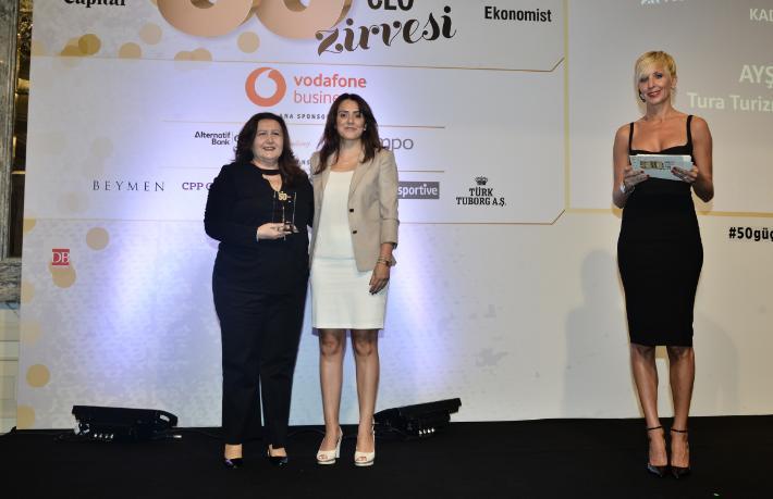 Tura Turizm Genel Müdürü Ayşin Arca'ya 'En güçlü CEO' ödülü