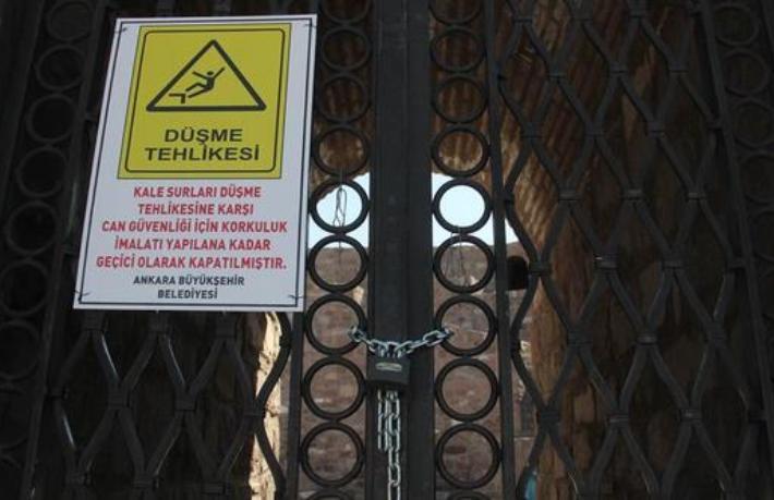 Ankara Kalesi ziyarete kapatıldı