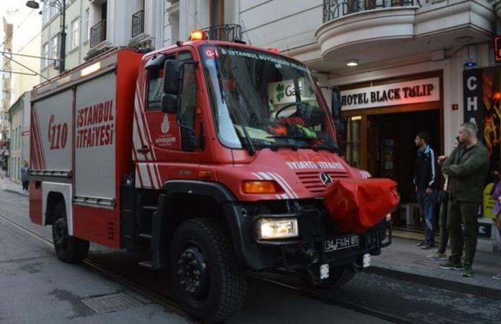 Sirkeci'de otel yangını
