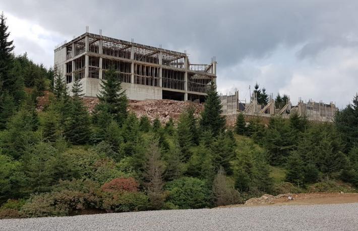 Yaylanın 5 yıldızlı oteli sona yaklaşıyor