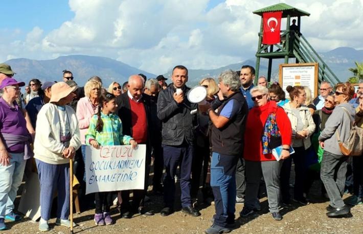 İztuzu Plajı'nda yapılaşma protestosu