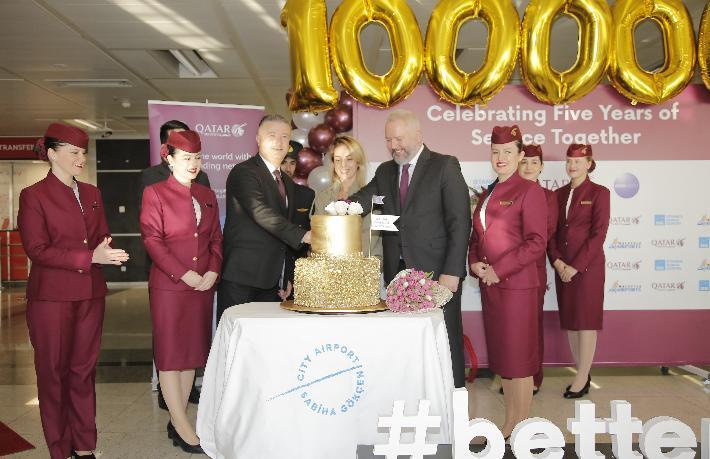 1 milyonuncu yolcuya özel kutlama