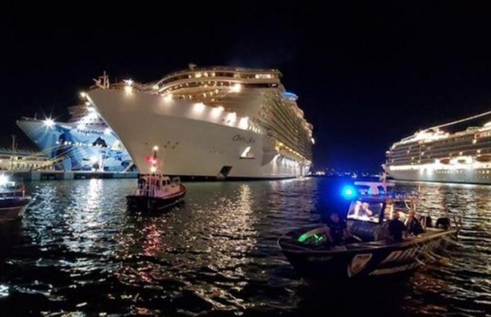 Dev yolcu gemisinde dehşet