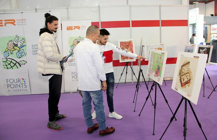 Ödüllü karikatürler HORECA Fuarı'nda sergilendi