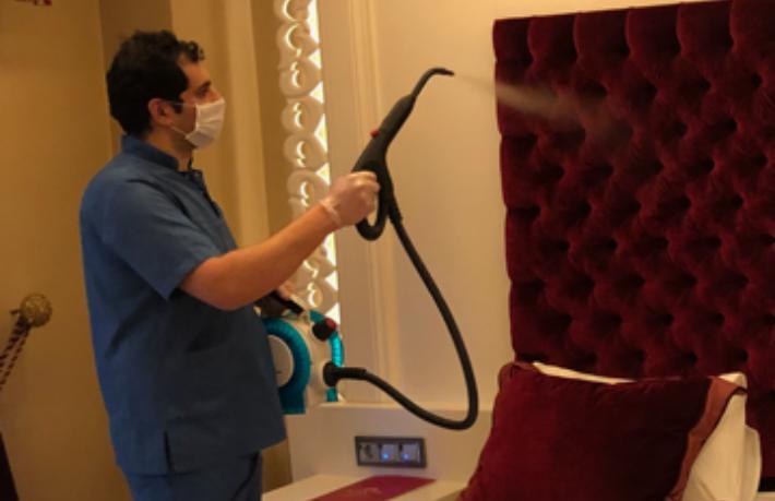 Real Konak Hotel'den virüse buharlı çözüm