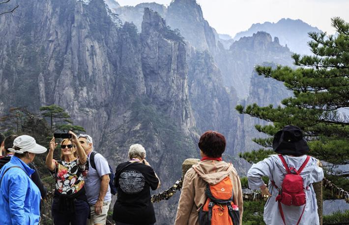 Çin'deki turistik alanlara ziyaretçi akını