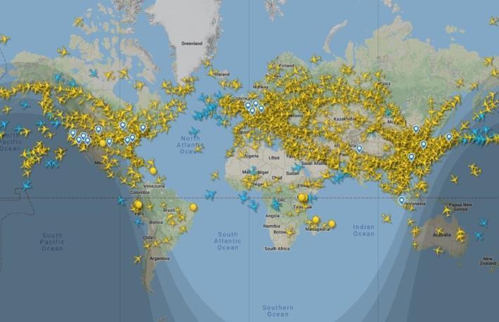 Uçuş trafiği ilk kez 100 bini geçti