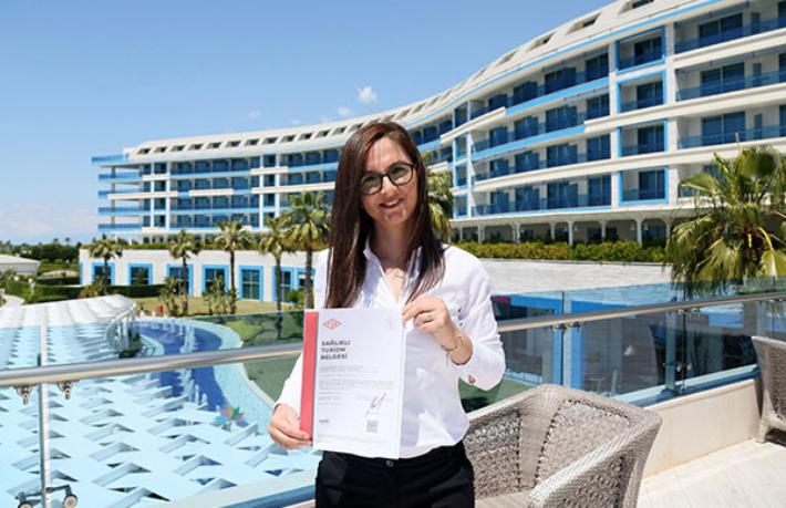 Türkiye'nin ilk 'Sağlıklı Turizm Belgesi' Sueno Hotel'in