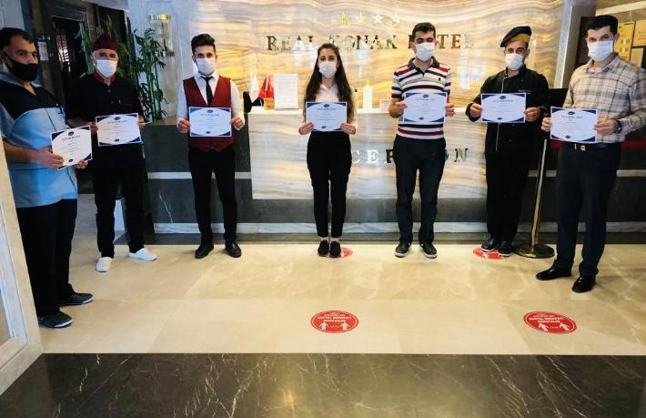 Real Konak Hotel'e Uluslararası Hijyen eğitimi