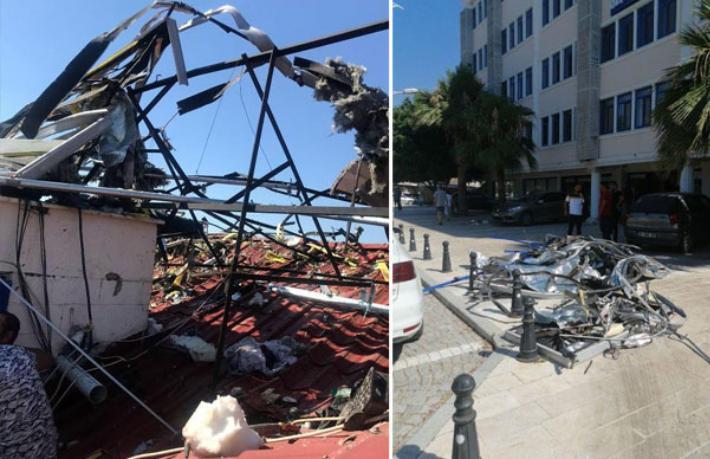 Otel çatısındaki tank patladı yaralılar var
