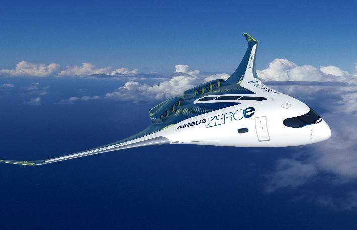 Airbus'tan yeni sıfır emisyon konsept uçağı