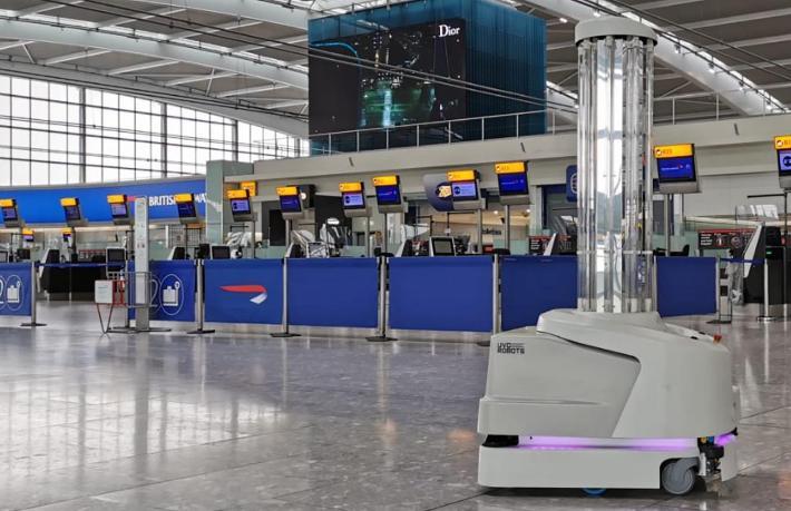 Havalimanlarında Covid-19 ile mücadeleye robot desteği