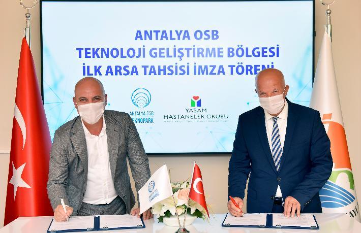Antalya OSB Teknopark, ilk firma kabulünü sağlık alanında yaptı