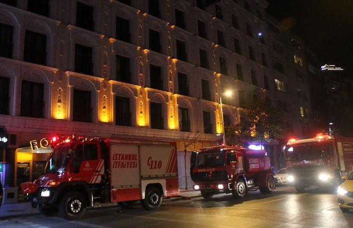Şişli'de otel yangını... Müşteriler tahliye edildi