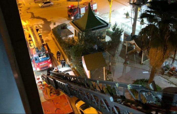 Mardin'de otel yangını: 1 ağır yaralı