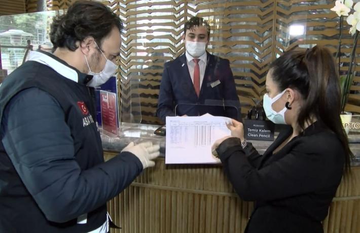 İstanbul otellerine koronavirüs denetimi
