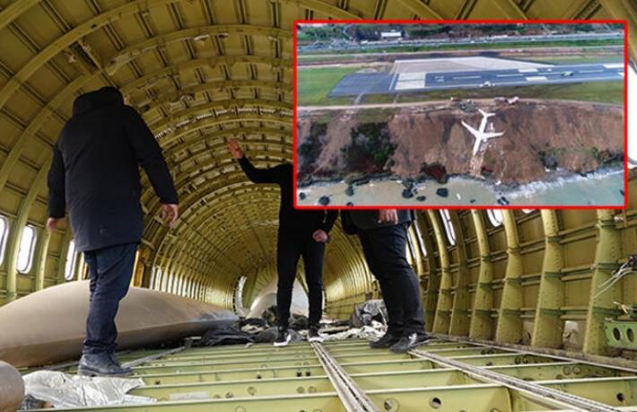 Trabzon'da pistten çıkan uçak pideci olacak