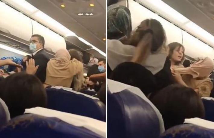 Uçakta kavga 5 saat rötar getirdi
