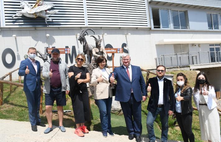 Ukrayna Büyükelçisi Kemer'i ziyaret etti