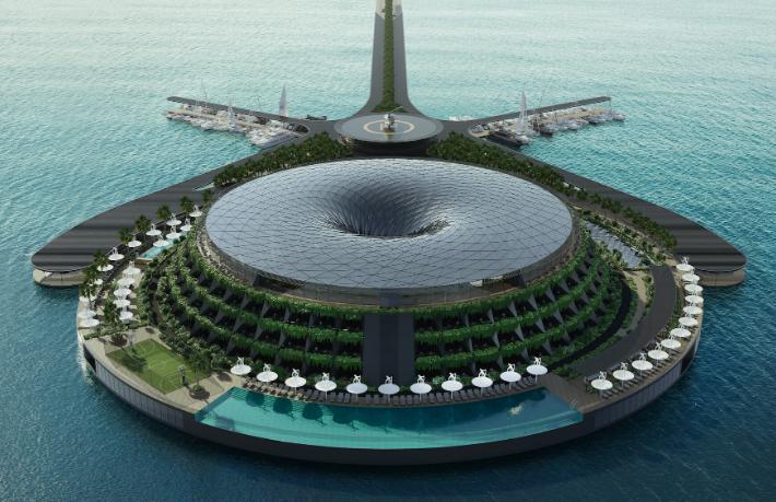 Türk şirket, Katar'a dünyanın ilk yüzer ekolojik otelini yapacak
