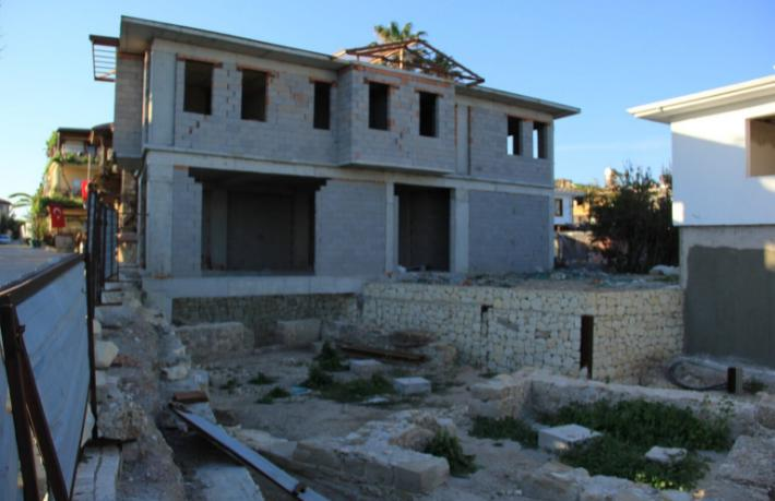 2 bin 700 yıllık tarih üzerine otel inşaatı