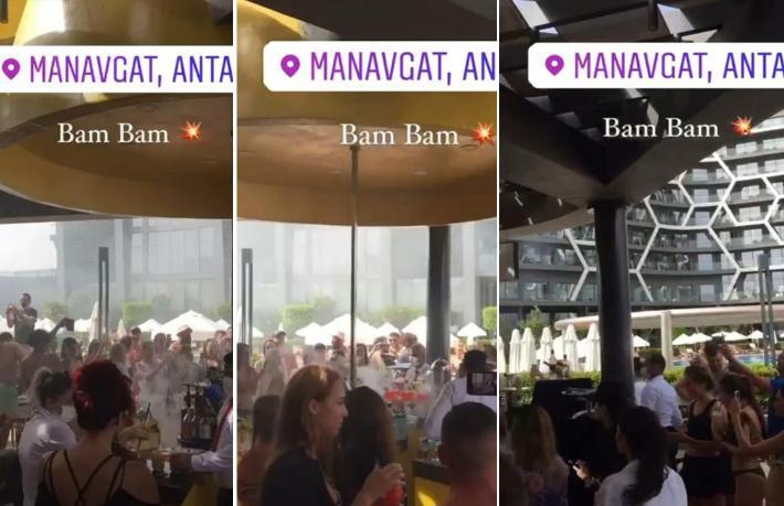 Antalya'daki otelde yüzlerce kişinin katıldığı tepki çeken parti