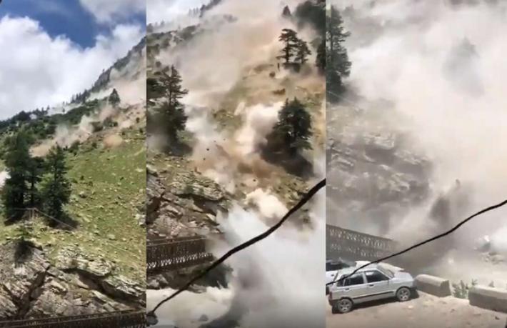 Dağdan kopan kaya parçaları 9 turisti öldürdü