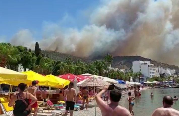 Bodrum'da yangın büyüdü... Oteller boşaltılıyor